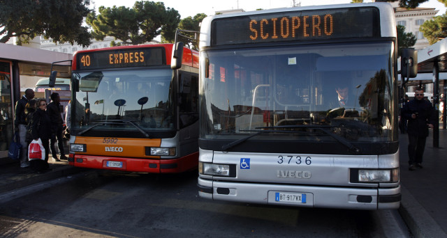 Importante sciopero a Roma. Metro, bus e treni a rischio!
